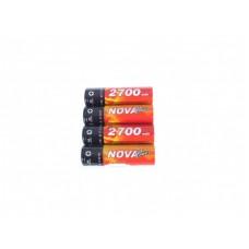 Akumulātori Nova NiMH AA 2700mAh, 1.2V, 4pcs