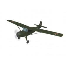 Aviomodelis, radiovadāms YAK-12, elektriskais, ARF, zaļš